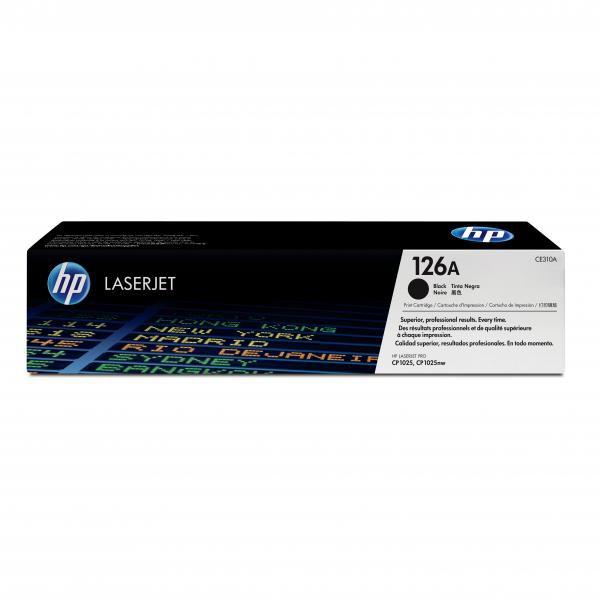 HP originální toner CE310A, black, 1200str., 126A, HP LaserJet Pro CP1025, 1025nw, MFP M175