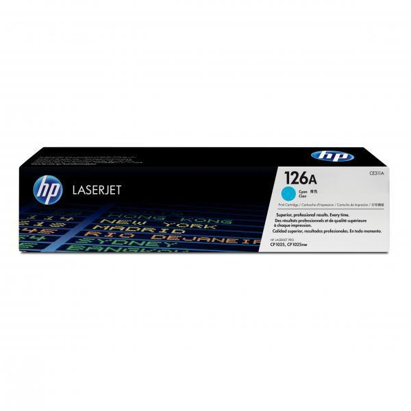 HP originální toner CE311A, cyan, 1000str., 126A, HP LaserJet Pro CP1025, 1025nw, MFP M175