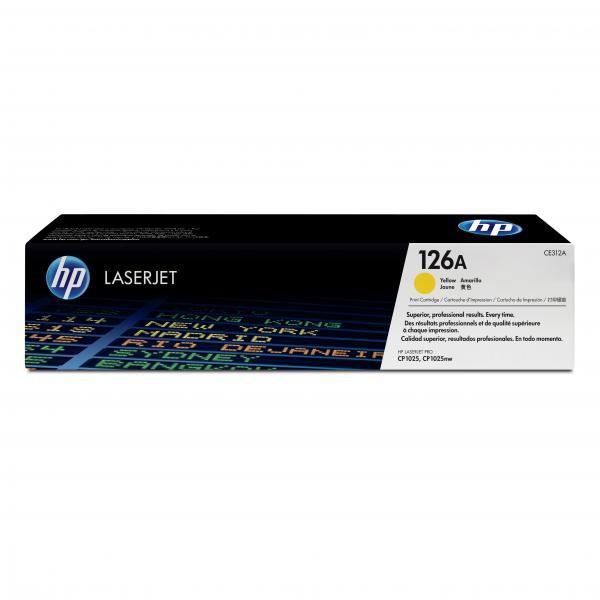HP originální toner CE312A, yellow, 1000str., 126A, HP LaserJet Pro CP1025, 1025nw, MFP M175
