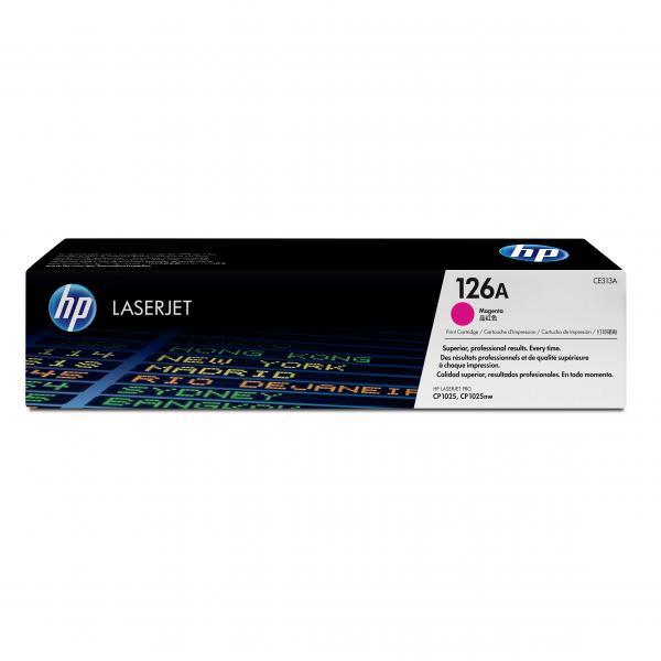 HP originální toner CE313A, magenta, 1000str., 126A, HP LaserJet Pro CP1025, 1025nw, MFP M175