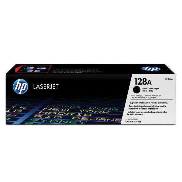 HP originální toner CE320A, black, 2000str., 128A, HP LaserJet Pro CP1525n, 1525nw, CM1415fn, 1415fnw