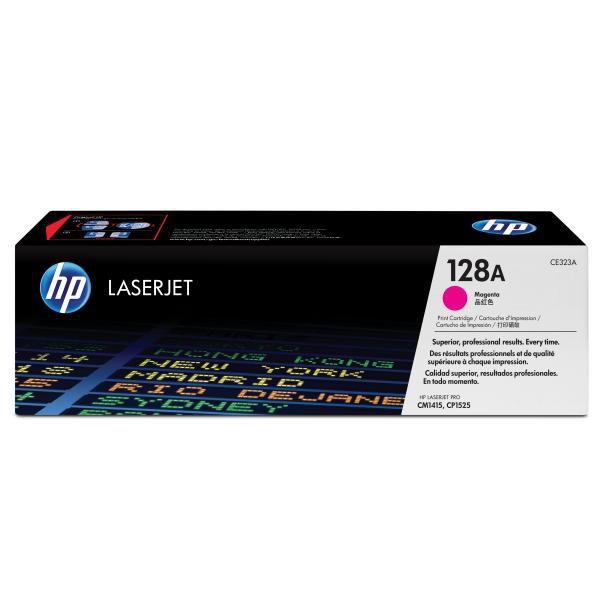 HP originální toner CE323A, magenta, 1300str., 128A, HP LaserJet Pro CP1525n, 1525nw, CM1415fn, 1415fnw