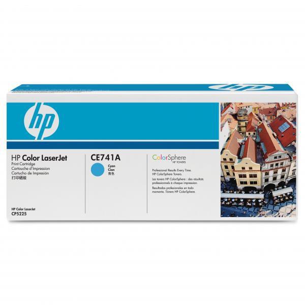 HP originální toner CE741A, cyan, 7300str., HP Color LaserJet CP5225