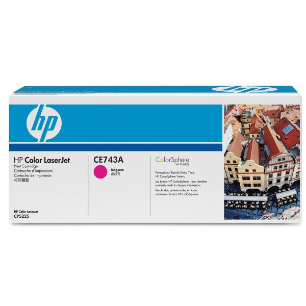 HP originální toner CE743A, magenta, 7300str., HP Color LaserJet CP5225