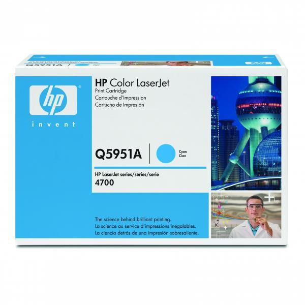 HP originální toner Q5951A, cyan, 10000str., HP Color LaserJet 4700, n, dn, dtn, ph+