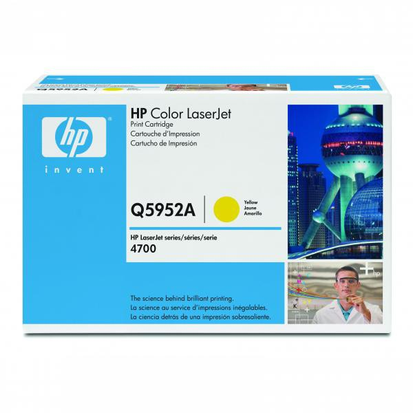 HP originální toner Q5952A, yellow, 10000str., HP Color LaserJet 4700, n, dn, dtn, ph+