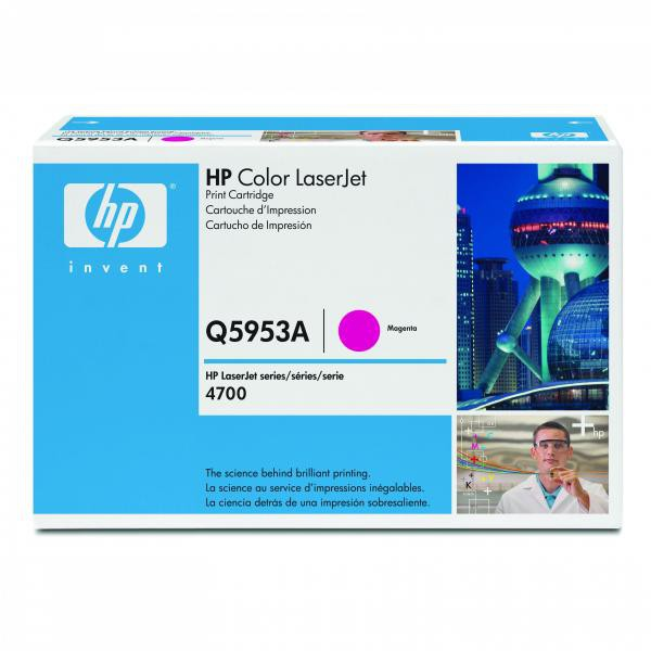 HP originální toner Q5953A, magenta, 10000str., HP Color LaserJet 4700, n, dn, dtn, ph+