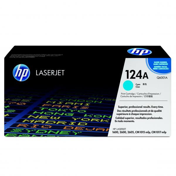 HP originální toner Q6001A, cyan, 2000str., 124A, HP Color LaserJet 1600, 2600n, 2605