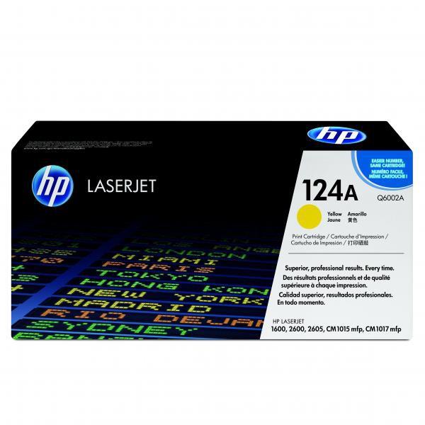 HP originální toner Q6002A, yellow, 2000str., 124A, HP Color LaserJet 1600, 2600n, 2605