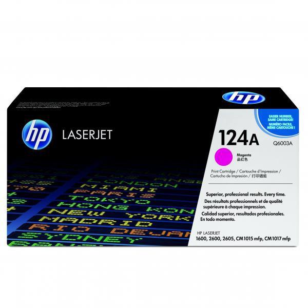 HP originální toner Q6003A, magenta, 2000str., 124A, HP Color LaserJet 1600, 2600n, 2605