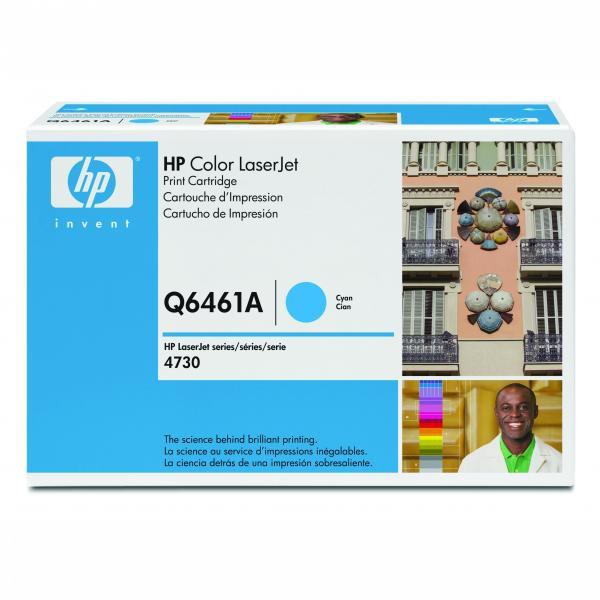 HP originální toner Q6461A, cyan, 12000str., HP Color LaserJet 4730mfp, 4730x, xm, xs