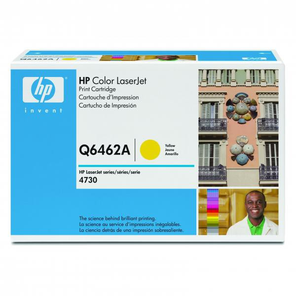 HP originální toner Q6462A, yellow, 12000str., HP Color LaserJet 4730mfp, 4730x, xm, xs