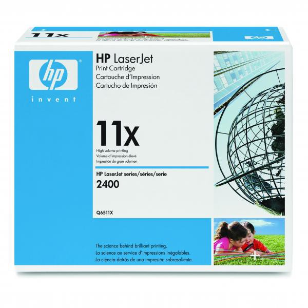 HP originální toner Q6511X, black, 12000str., 11X, high capacity, HP LaserJet 2400, 2410, 2420, 2430