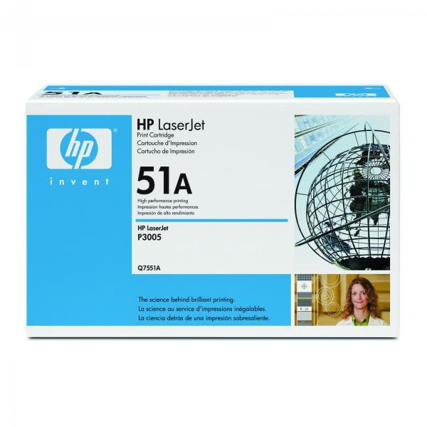 HP originální toner Q7551A, black, 6500str., 51A, HP LaserJet P3005, M3035mfp, M3027mfp