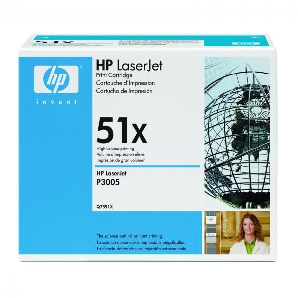 HP originální toner Q7551X, black, 13000str., 51X, HP LaserJet P3005, M3035mfp, M3027mfp