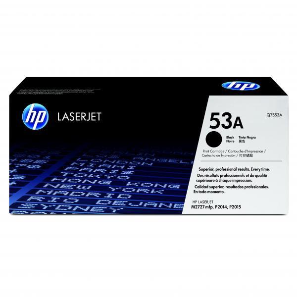 HP originální toner Q7553A, black, 3000str., 53A, HP LaserJet P2010, P2015