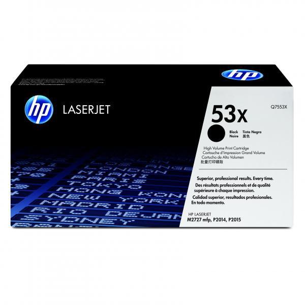 HP originální toner Q7553X, black, 7000str., 53X, HP LaserJet P2010, P2015