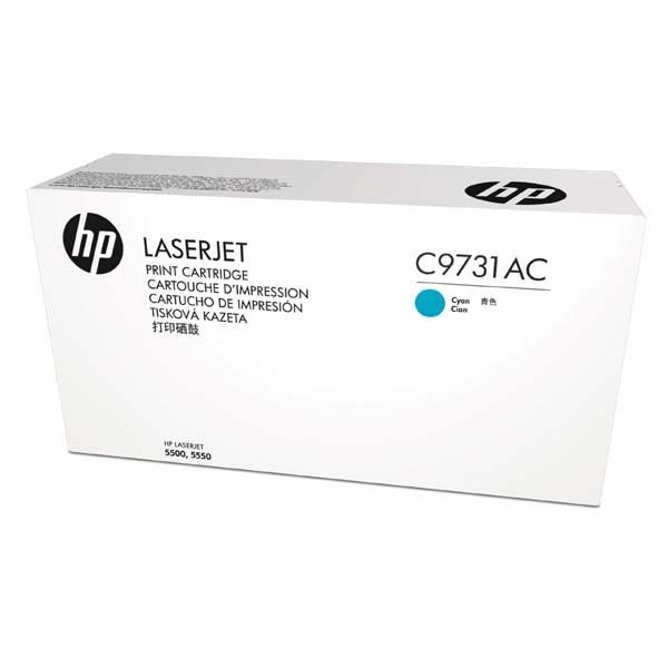 HP originální toner C9731AC, cyan, 12000str., 645A, HP Color LaserJet 5500, N, DN, HDN, DTN, kontraktový produkt