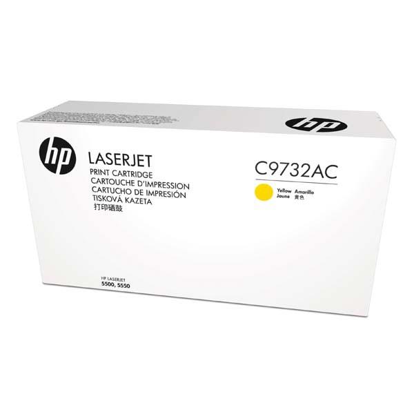 HP originální toner C9732AC, yellow, 12000str., 645A, HP Color LaserJet 5500, N, DN, HDN, DTN, kontraktový produkt