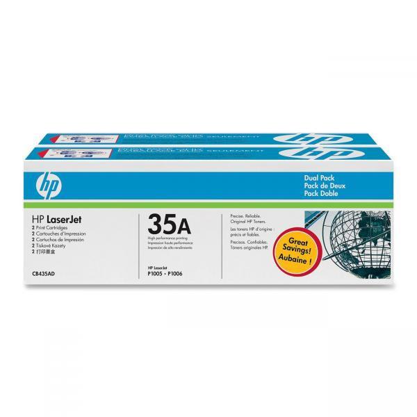 HP originální toner CB435AD, black, 3000 (2x1500)str., HP LaserJet P1005, 1006, Dual pack 2ks