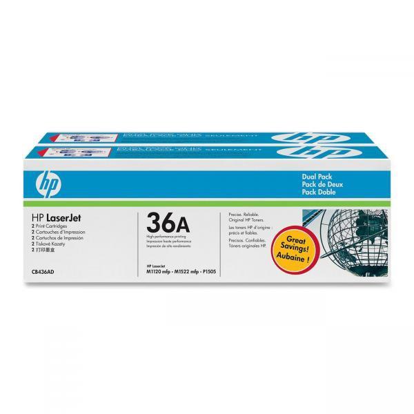 HP originální toner CB436AD, black, 4000 (2x2000)str., HP LaserJet P1505, M1522n, nf MFP, Dual pack