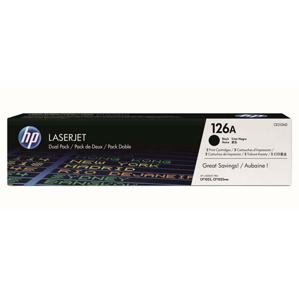HP originální toner CE310AD, black, 1200str., HP LaserJet Pro CP1025, Dual pack 1000g, 2ks