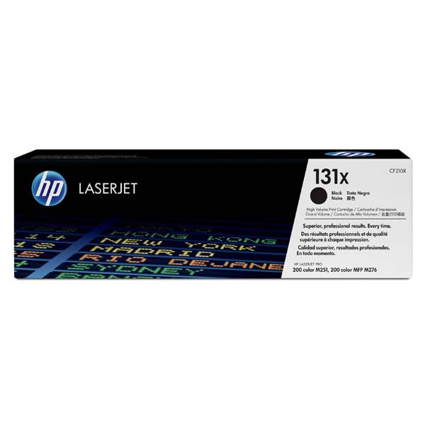 HP originální toner CF210X, black, 2400str., 131X, HP LaserJet Pro 200 M276n, M276nw, 600g