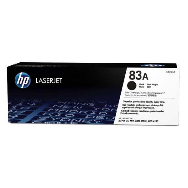 HP originální toner CF283A, black, 1500str., 83A, HP LJ Pro M201dw,201n,MFP M125a,125nrw,127fn,225,127, 830g