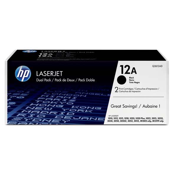 HP originální toner Q2612AD, black, 4000 (2x2000)str., 12A, HP LaserJet 1010, 1012, 1015, 1020, 1022, 3015, 3020, Dual pack 2ks