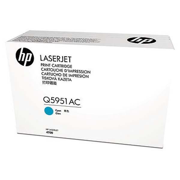 HP originální toner Q5951AC, cyan, 10000str., HP Color LaserJet 4700, 4700dn, 4700dtn, 4700n, 4, kontraktový produkt