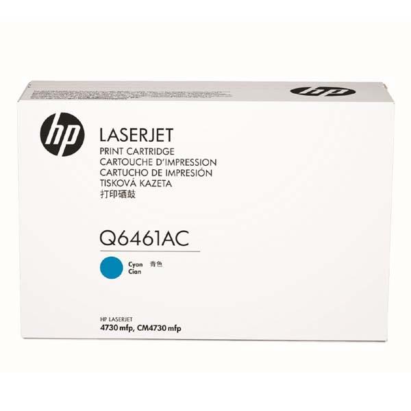 HP originální toner Q6461AC, cyan, 12000str., HP Color LaserJet 4730mfp, 4730x, xm, xs, kontraktový produkt