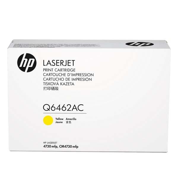 HP originální toner Q6462AC, yellow, 12000str., HP Color LaserJet 4730mfp, 4730x, xm, xs, kontraktový produkt