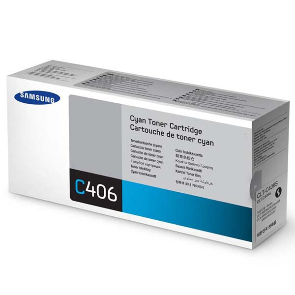 Samsung originální toner CLT-C406S, cyan, 1000str., Samsung CLP-360, 365, CLX-3300, 3305