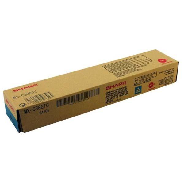 Sharp originální toner MX-C38GTC, cyan, 10000str., Sharp MXC 310, 311, 380, 381
