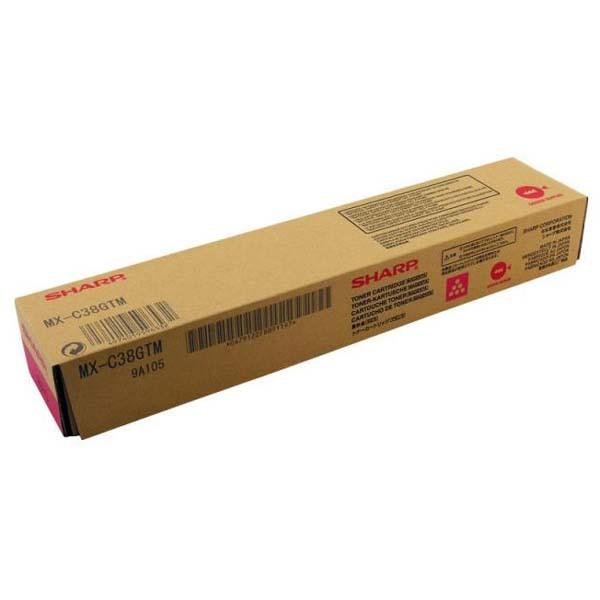 Sharp originální toner MX-C38GTM, magenta, 10000str., Sharp MXC 310, 311, 380, 381