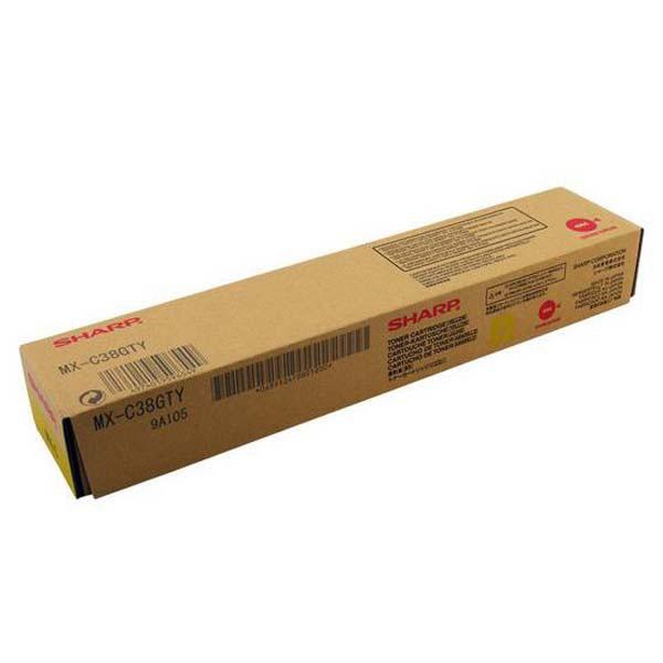 Sharp originální toner MX-C38GTY, yellow, 10000str., Sharp MXC 310, 311, 380, 381