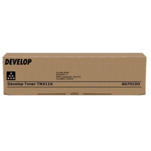 Develop originální toner A0701D0, black, 45000str., TN-611K, Develop Ineo +550, +650
