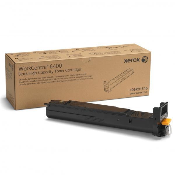 Xerox originální toner 106R01316, black, 12000str., Xerox WorkCentre 6400