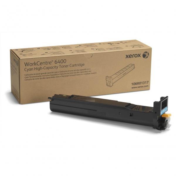 Xerox originální toner 106R01317, cyan, 16500str., high capacity, Xerox WorkCentre 6400