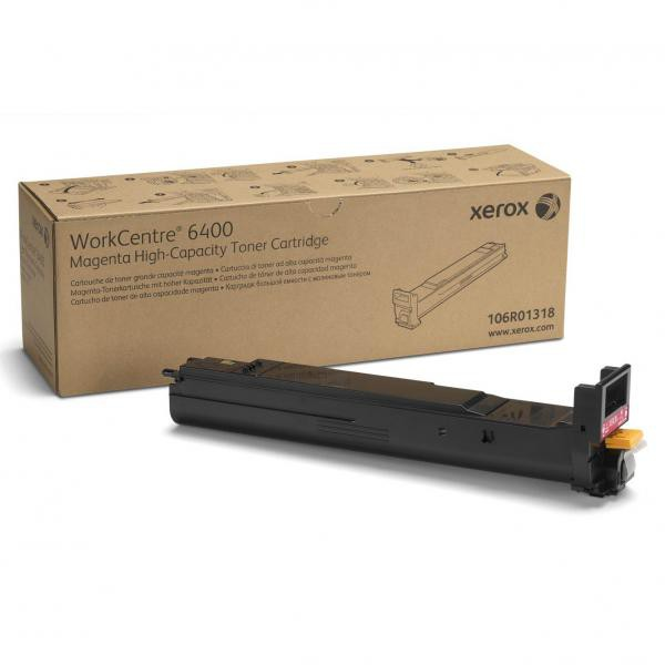 Xerox originální toner 106R01318, magenta, 16500str., high capacity, Xerox WorkCentre 6400