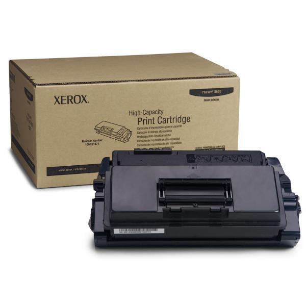 Xerox originální toner 106R01371, black, 14000str., Xerox Phaser 3600