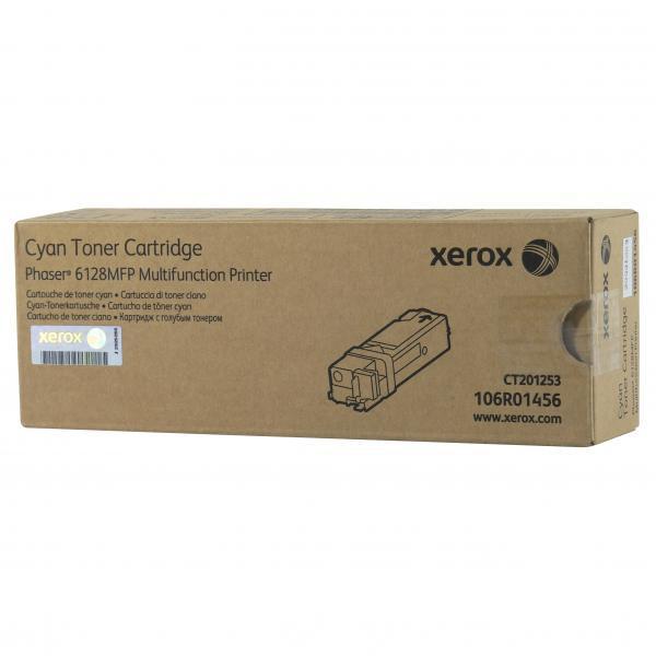 Xerox originální toner 106R01456, cyan, 2500str., Xerox Phaser 6128MFP