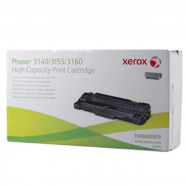 Xerox originální toner 108R00909, black, 2500str., Xerox Phaser 3140, 3155, 3160