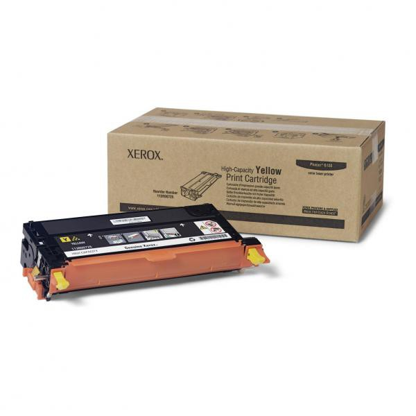 Xerox originální toner 113R00725, yellow, 6000str., Xerox Phaser 6180