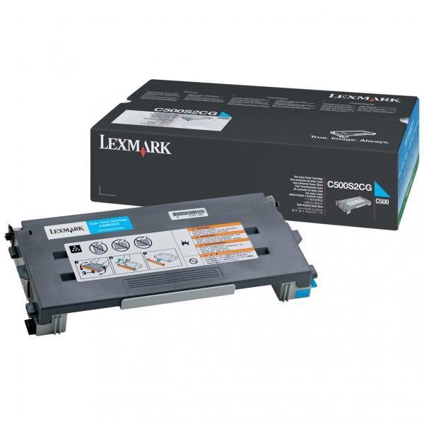 Lexmark originální toner C500S2CG, cyan, 1500str., return, Lexmark C500
