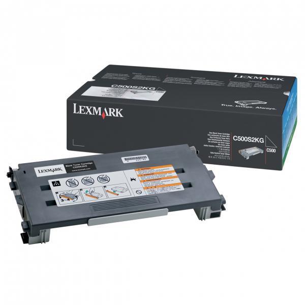 Lexmark originální toner C500S2KG, black, 2500str., return, Lexmark C500