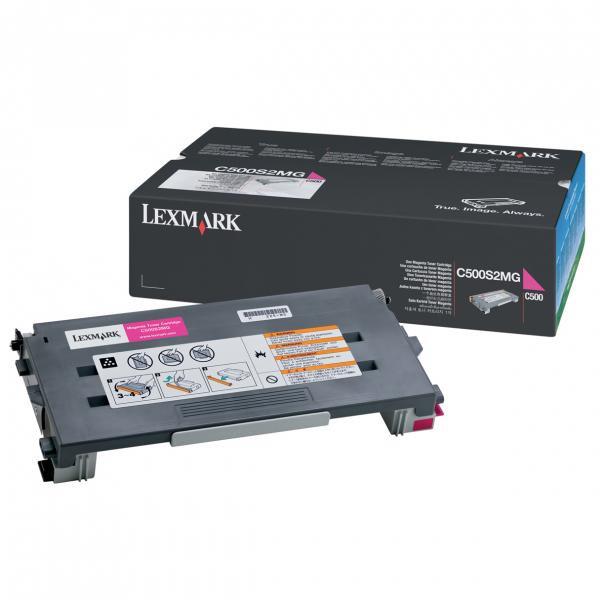 Lexmark originální toner C500S2MG, magenta, 1500str., return, Lexmark C500