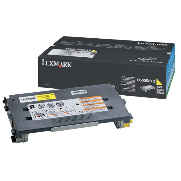 Lexmark originální toner C500S2YG, yellow, 1500str., return, Lexmark C500