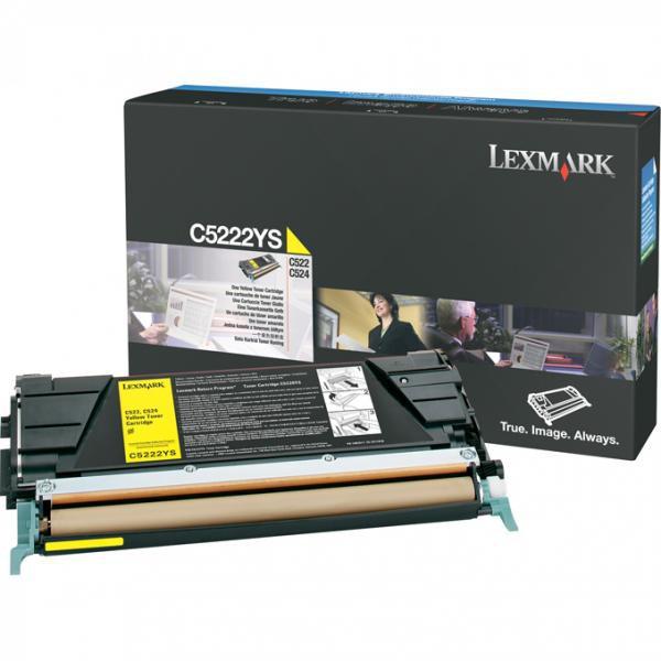 Lexmark originální toner C5222YS, yellow, 3000str., Lexmark C52x, C53x