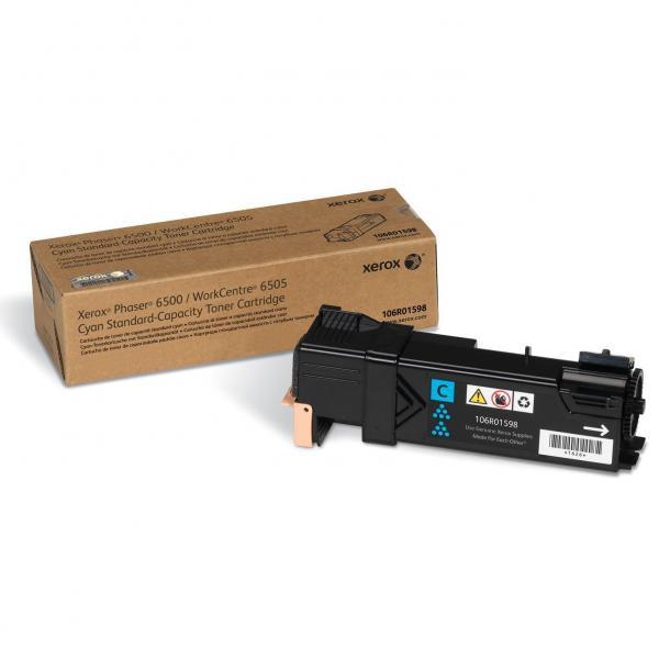 Xerox originální toner 106R01598, cyan, 1000str., Xerox Phaser 6500, 6505